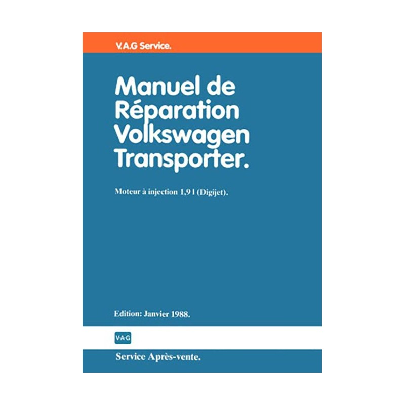 Manuel Mecanique 1,9 L Injection