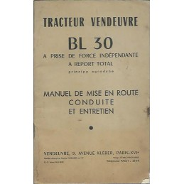 Livret Entretien BL 30