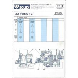 Fiche Technique Solex 32 PBISA-12