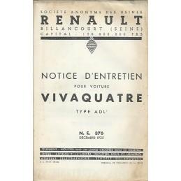 Notice d' Entretien ADL 1