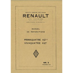 Manuel d' Atelier  KZ 9 / KZ 10