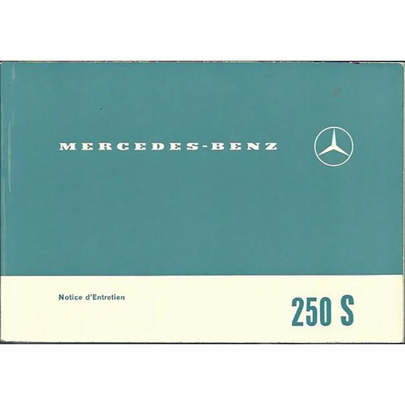 Notice d' Entretien  250 S