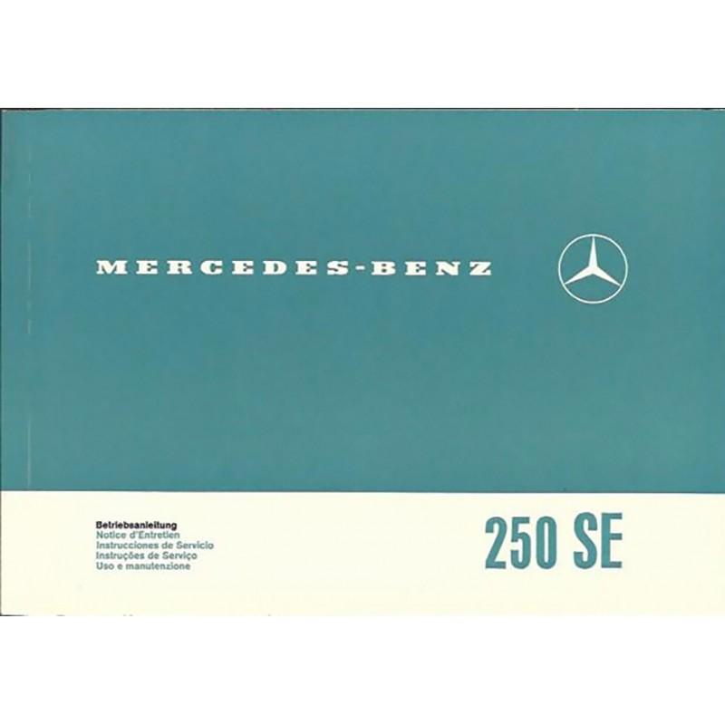Notice d' Entretien  250 SE