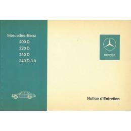 Notice Entretien  200 - 220 - 240
