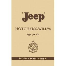 Notice d' Entretien  JH 102