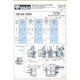 Fiche Technique Solex 26/35 CSIC