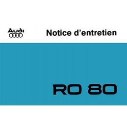 Notice Entretien RO 80