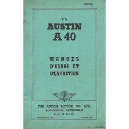 Notice d' Entretien A 40 1948