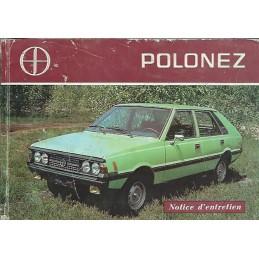 Notice Entretien Polonez