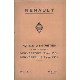 Notice d' Entretien ZC4 / ZD4