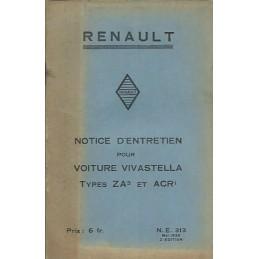 Notice d' Entretien ZA 3 / ACR 1