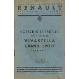 Notice d' Entretien ACX 1