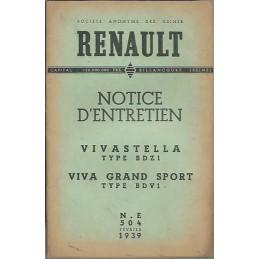 Notice d' Entretien BDZ 1 / BDV 1