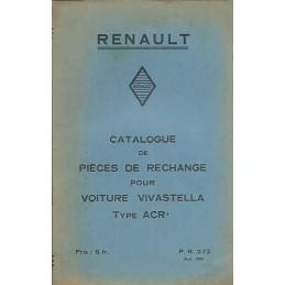 Catalogue de Pieces ACR 1