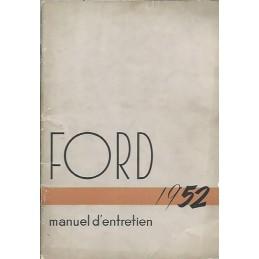Notice d' Entretien 1952