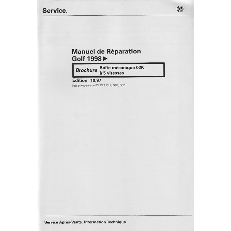 Manuel Reparation BV Meca 02K