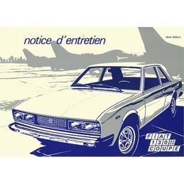 Notice Entretien 130 Coupé 1973
