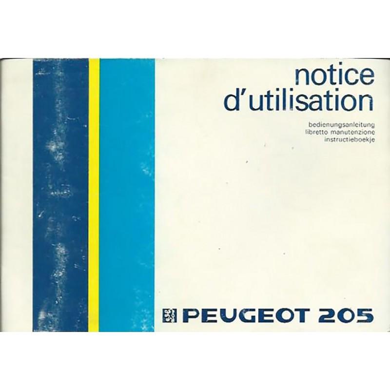 Notice Entretien 1987