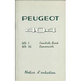 Notice d' Entretien 1967