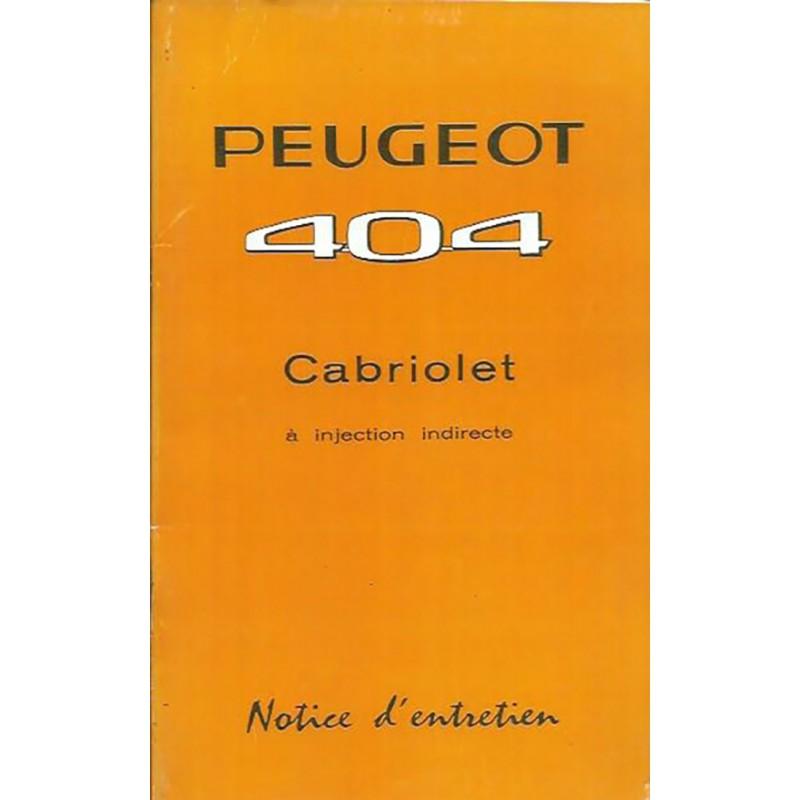 Notice d' Entretien 1962