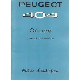 Notice d' Entretien 1963