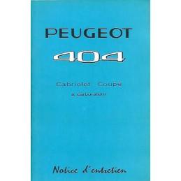 Notice d' Entretien 1968