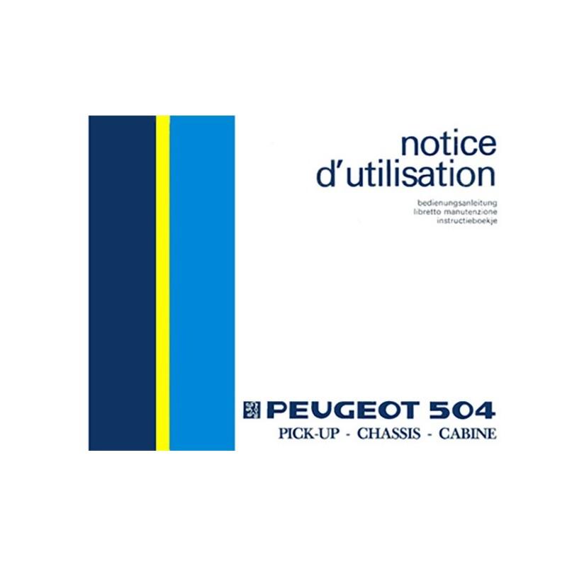 Notice d' Entretien Pick Up (1986)