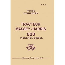 Livret Entretien  820 Diesel