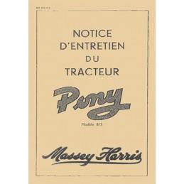 Notice Entretien Pony 812