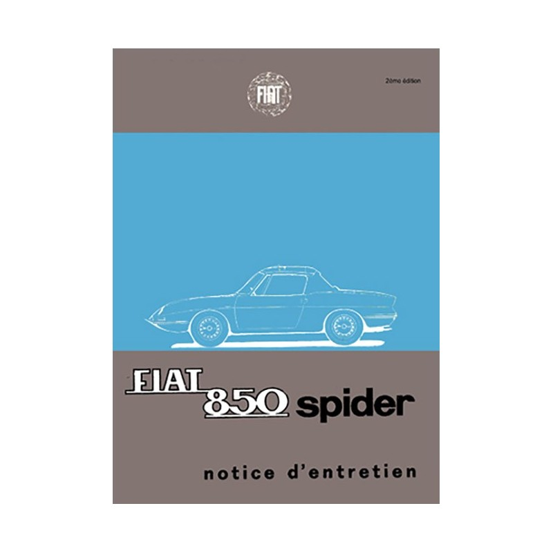 Notice d' Entretien Spider 1967