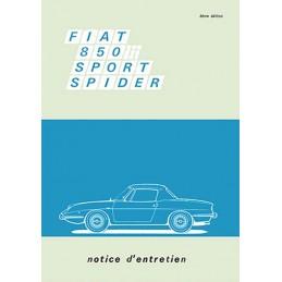Notice d' Entretien Spider 1969