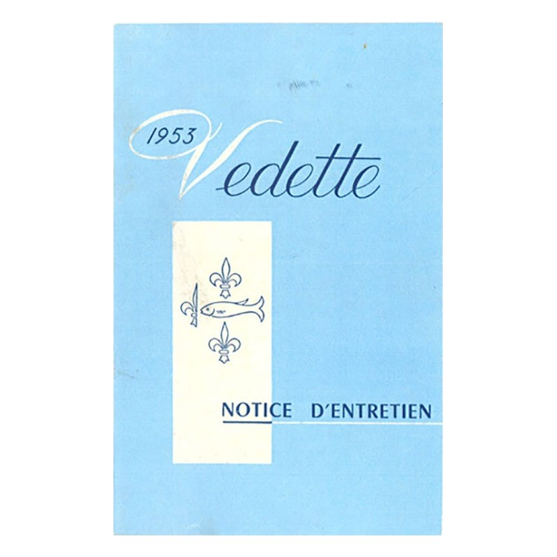 Notice d' Entretien  1953