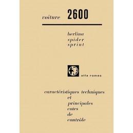 Caracteristiques Technique 2600