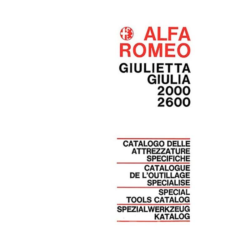 Catalogue Outillage 2000 / 2600 De Alfa Roméo