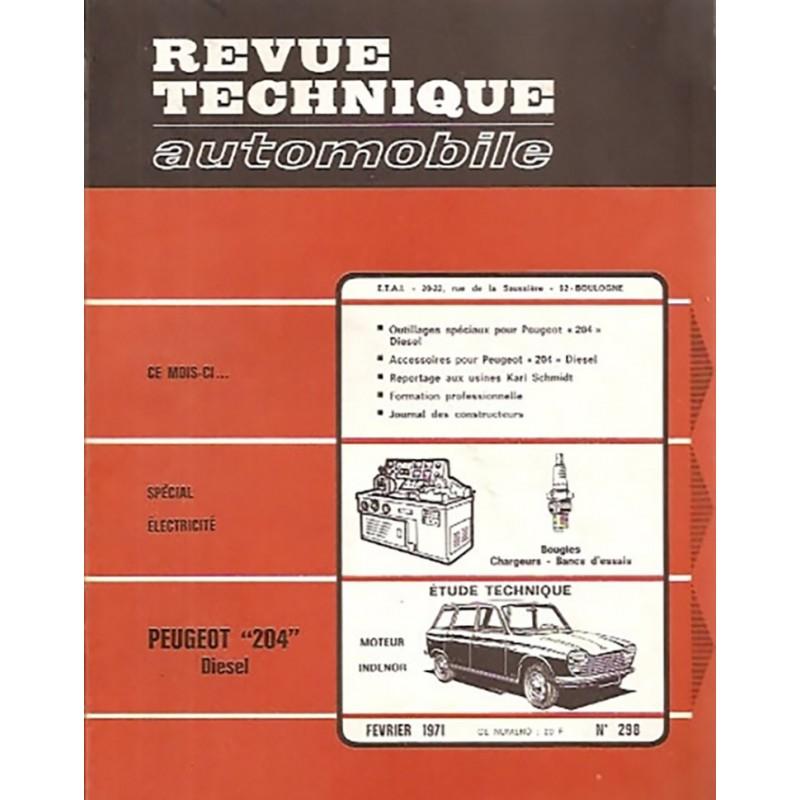 Revue Technique 204 Diesel 1971