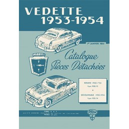 Catalogue Pieces Ford Vedette