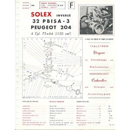 Fiche Solex 32 PBISA-3
