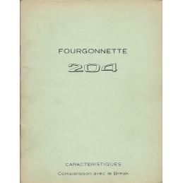 Documentation 204 Fourgonnette