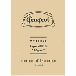 Notice d' Entretien 402 B Legere