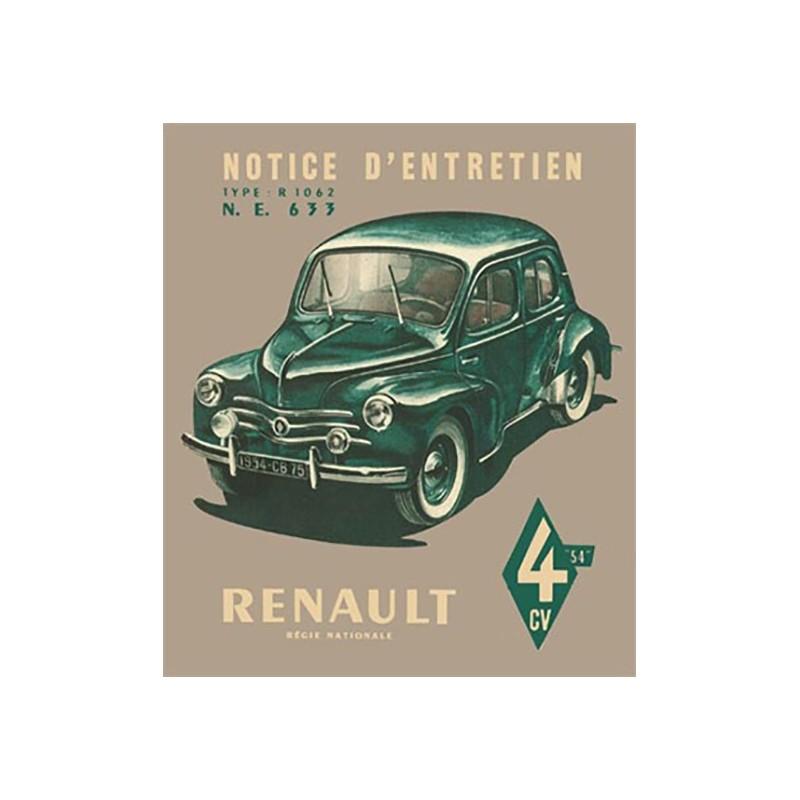 Notice d' Entretien  1954