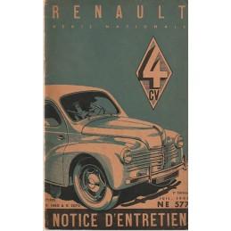 Notice d' Entretien  1948