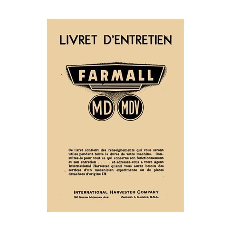Livret Entretien MD / MDV