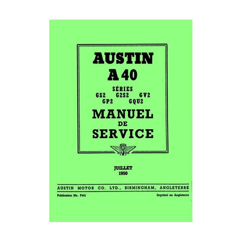 Manuel de Reparation A 40