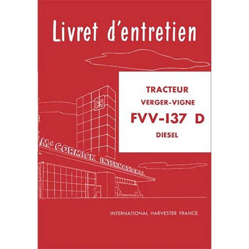 Livret Entretien FVV 137 Diesel