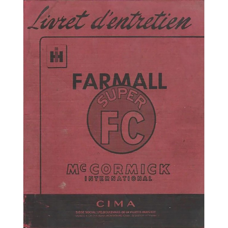 Livret Entretien Super FC