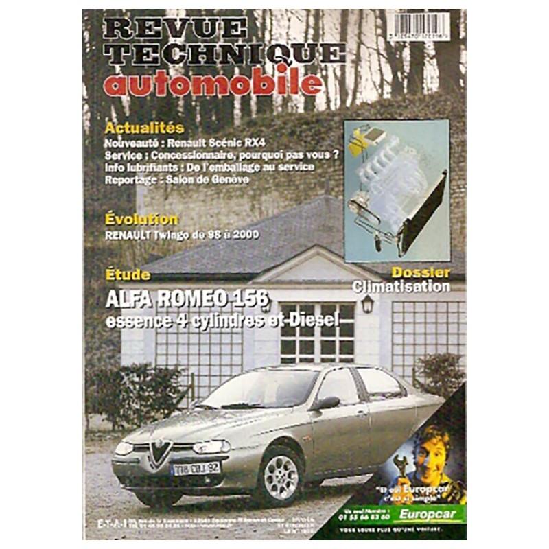 Revue Technique 2000 ALFA 156 De Alfa Roméo