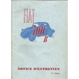 Notice d' Entretien 500 B