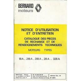 Moteur Bernard 18-218-318-28-328