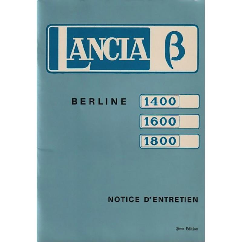 Notice Entretien  1973