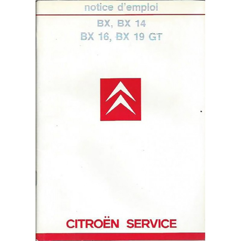 Notice d' Entretien 1985